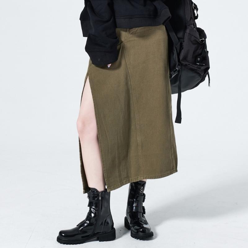 Better Deep Slit Long Skirt