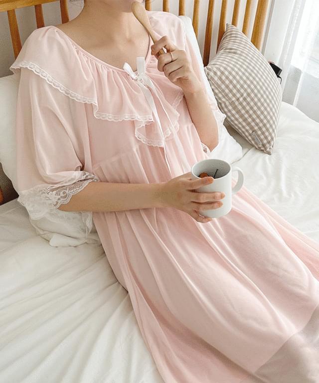 Princess Lace Homewear Pajamas Dress