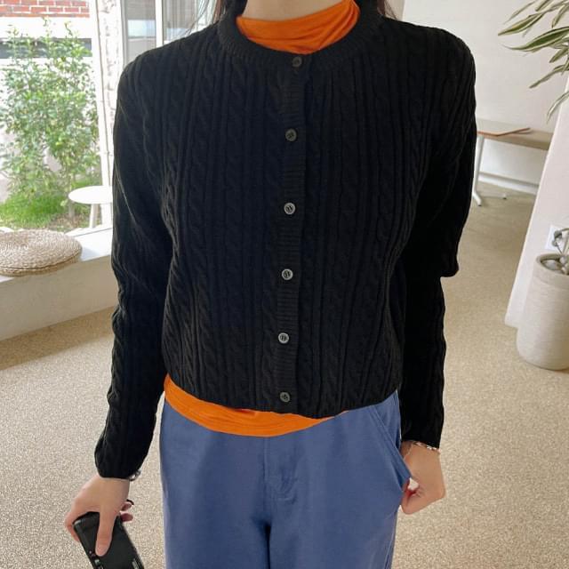 Ponzu Twisted Knitwear Cardigan (Delayed delivery)