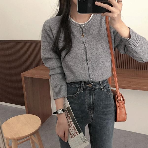 Soft, Round Knitwear Cardigan