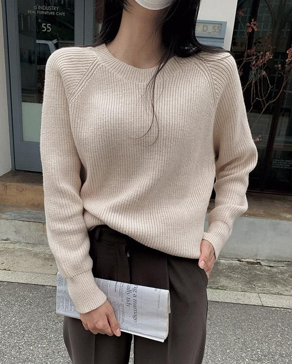 #Any place Poca Round Knitwear T-shirt