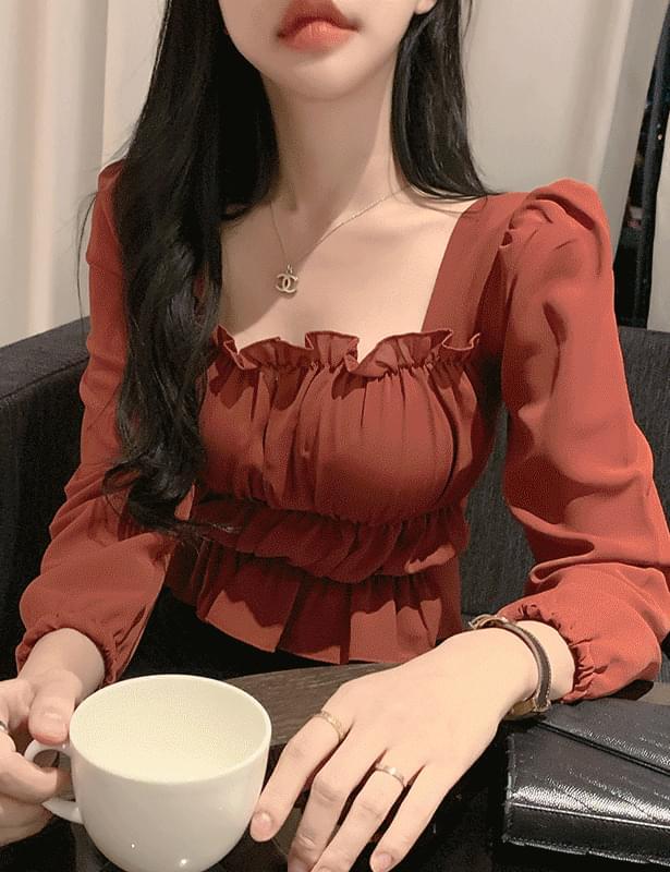 f os square frill blouse