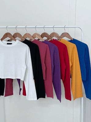 up cropped long sleeve tee