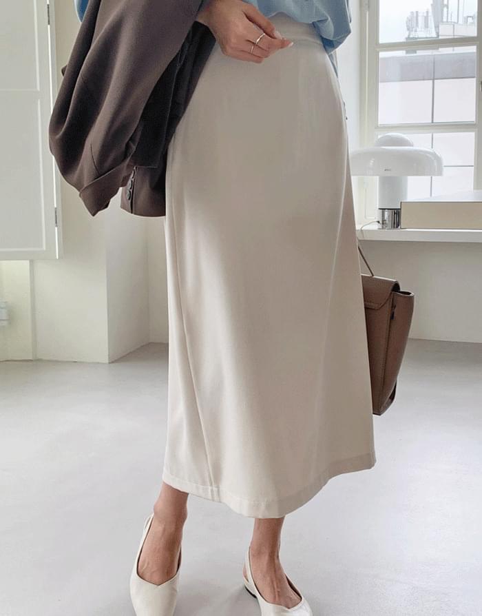 Palette banding H-line long skirt