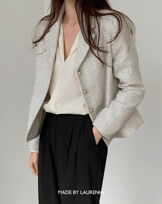 Blanc Tweed Short Jacket - 2 color