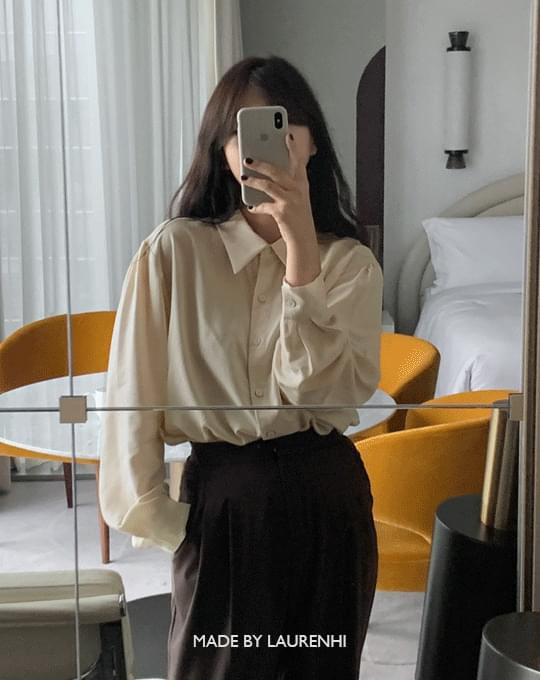 Dinner Shirring Collar Blouse - 2 color
