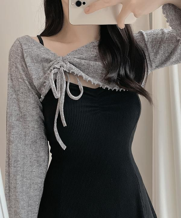 Giselle Strap Bolero + Knitwear Strap Dress 3color