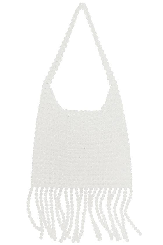 fringed beaded shoulder bag