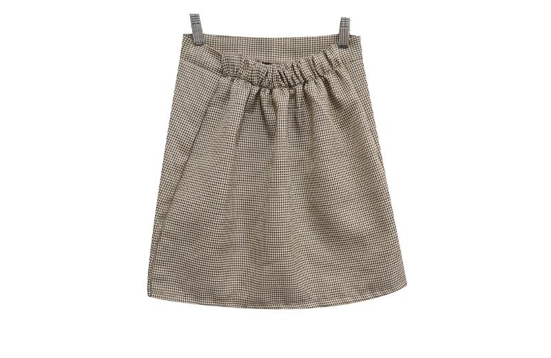Hound Check Back Banding Skirt