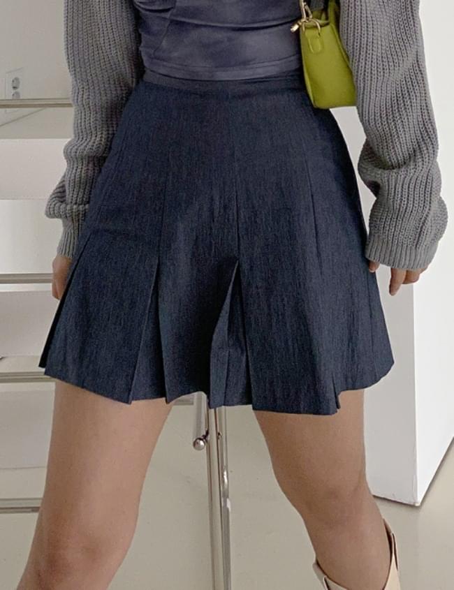 post denim skirt