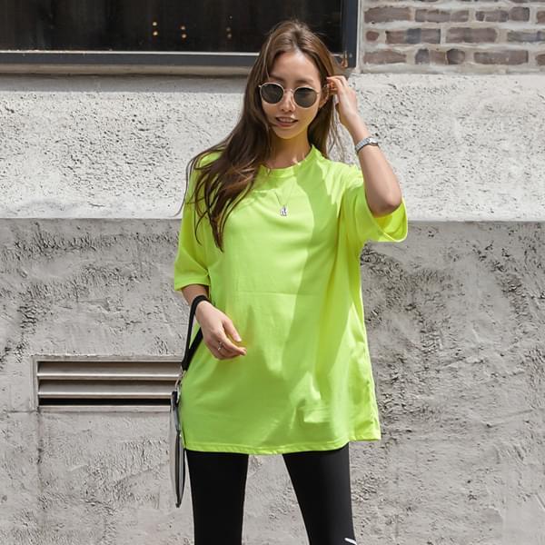 Boxy Fit Collar Round T-shirt #108170