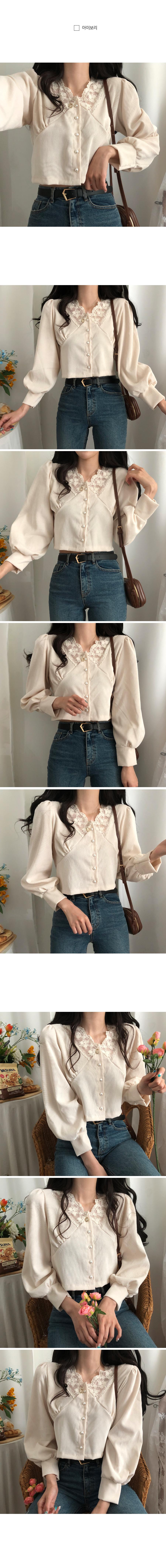 Kokomi lace golden cropped blouse