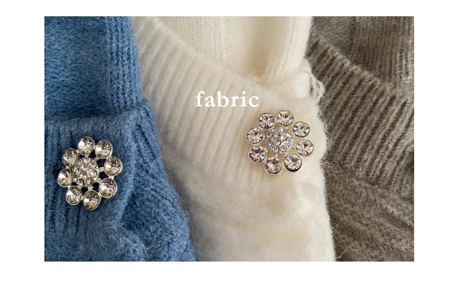 Snowflake Jewel Fluffy Cardigan