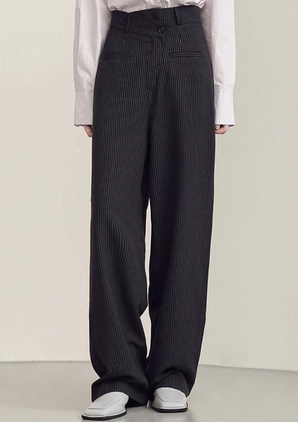unballance stripe slacks
