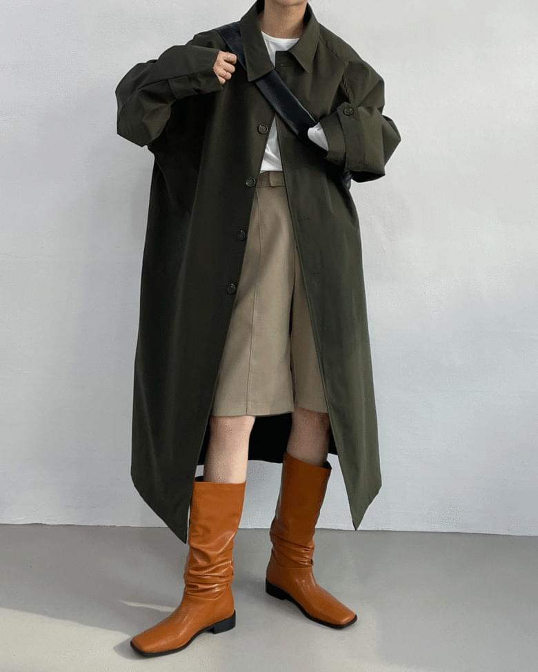 oz overfit long mac coat