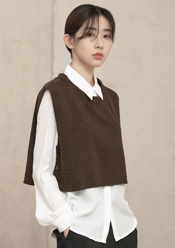 twist crop vest