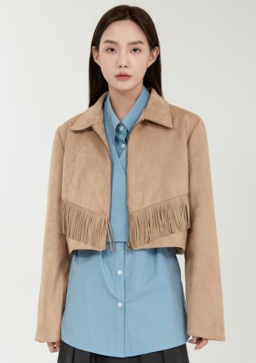 suede tassel jacket