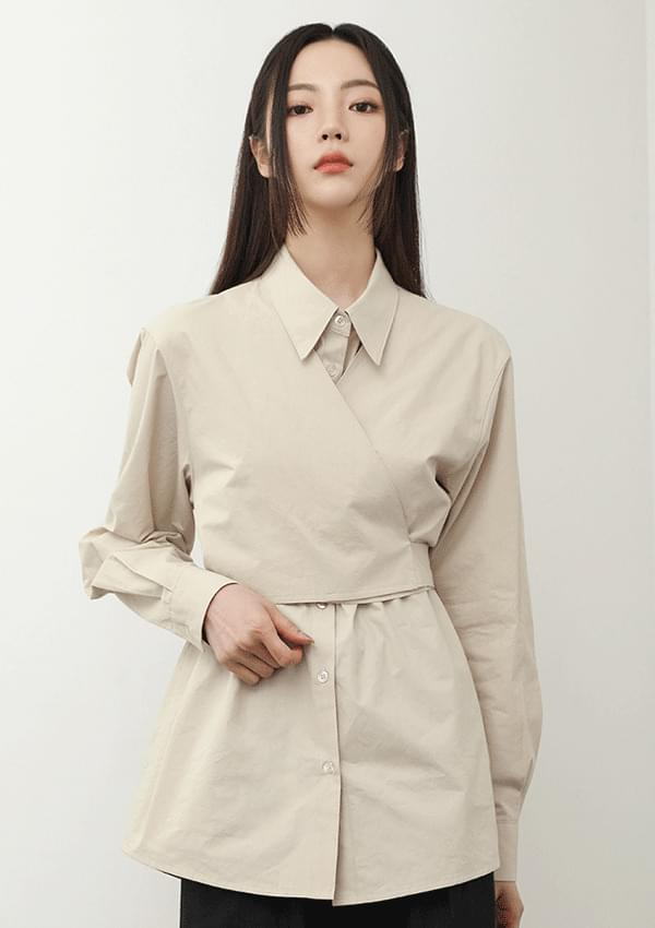 vest wrap shirt