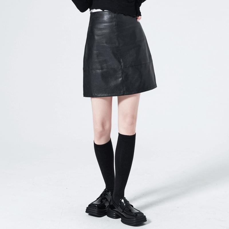 Lehey leather mini skirt