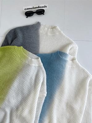 Color Gradient Loose-fit Knitwear