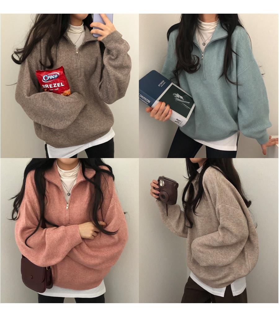 Apollo Wool Zip-Up Knitwear