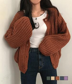 Dunk and delicate avant-fitting hachi cardigan