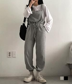 overall jogger suspenders trousers