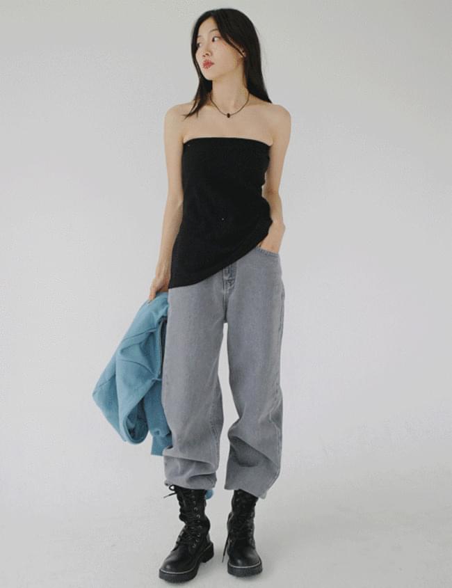 Ribbed Knitwear Layered Top