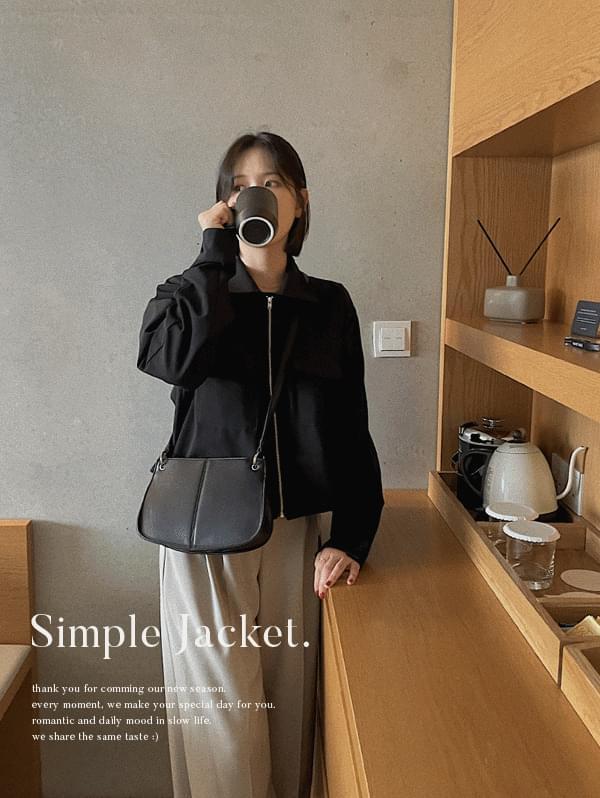 Minimal Simple Short Jacket - 2color