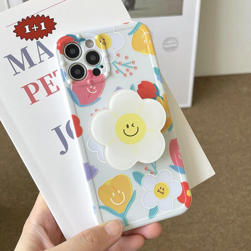 Yolk Smile Flower iPhone Case