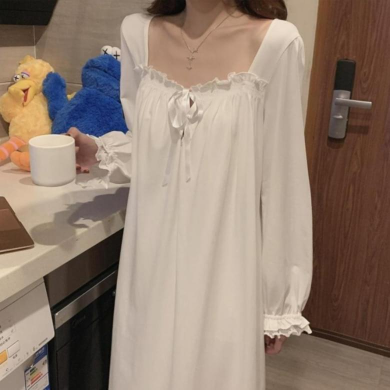 Homewear Lace Slip Dress Sleepwear