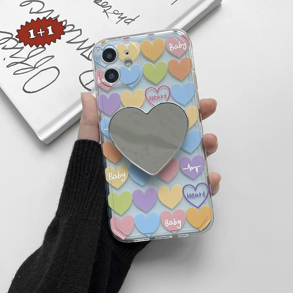 Baby Heart Pastel Pattern iPhone Case
