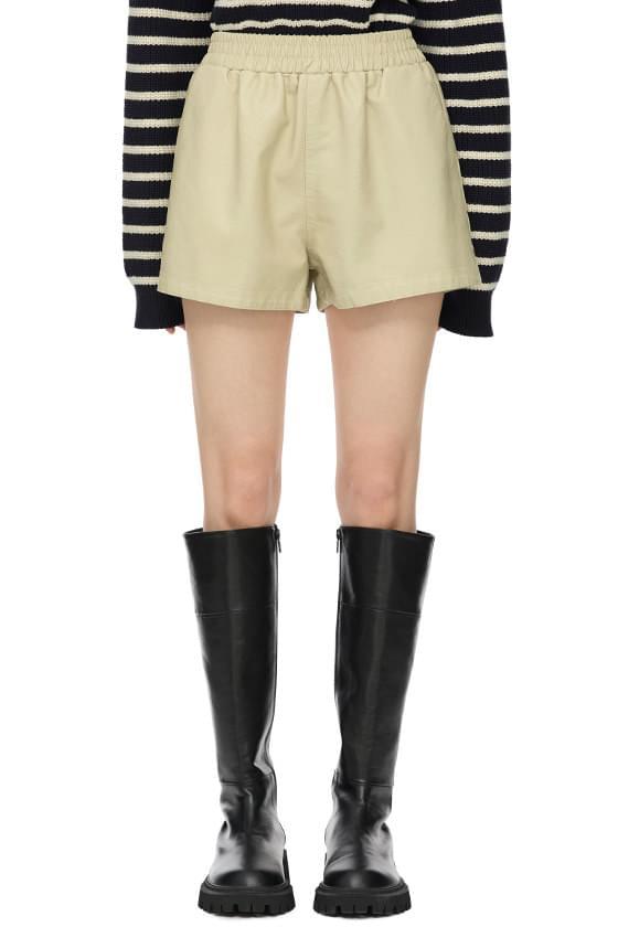 Jet Leather Banding Shorts