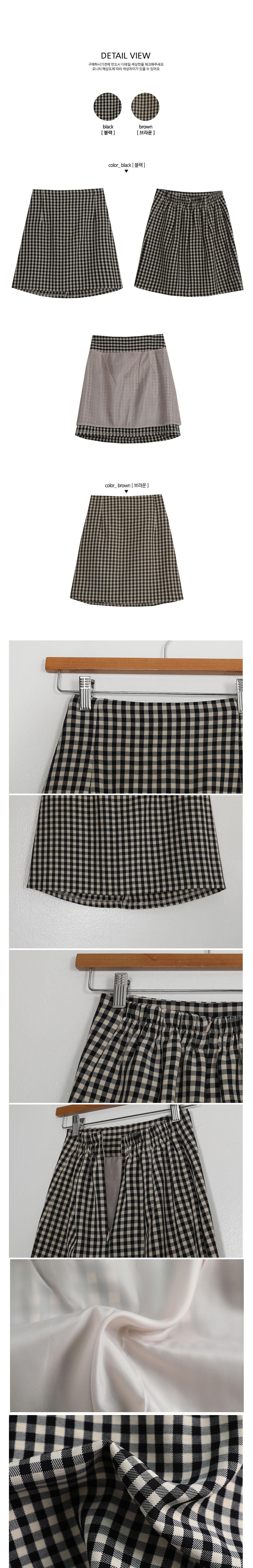 Crunchy Check Mini Skirt