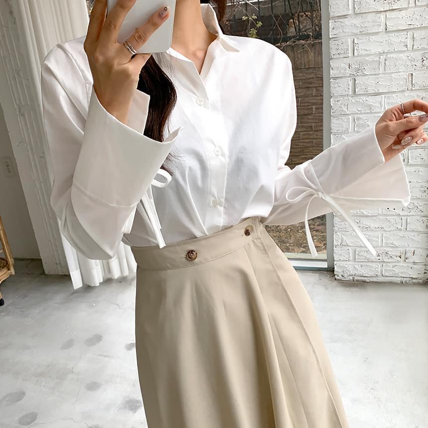 Nana sleeve strap blouse