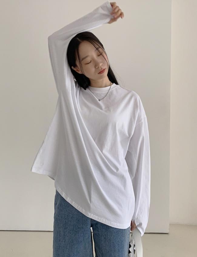 Boxy warmer long sleeve T-shirt