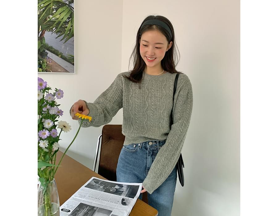Mini Cable Round Crop Knitwear 針織衫