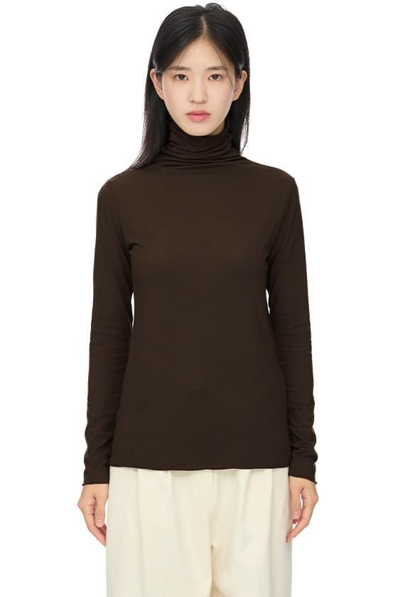 테싯 소프트 터틀넥 티셔츠