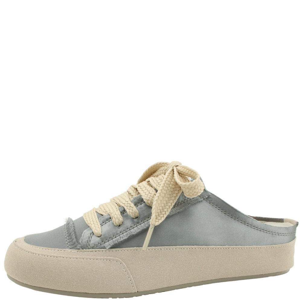 Silk Satin Sneakers Mules Slippers Gray