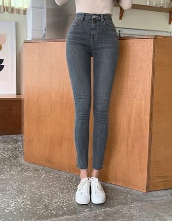 Corns Van Hai Deep Gracie Faded Slim Fit Denim Pants