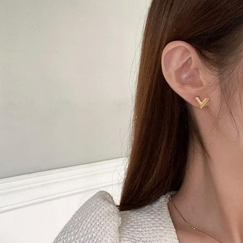 V Point Earrings A#YW063
