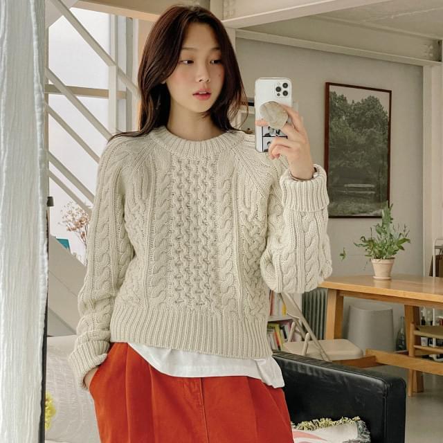 Soline Twisted Crop Wool Knitwear