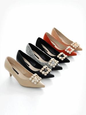 Beautiful rise middle heel pumps 6cm