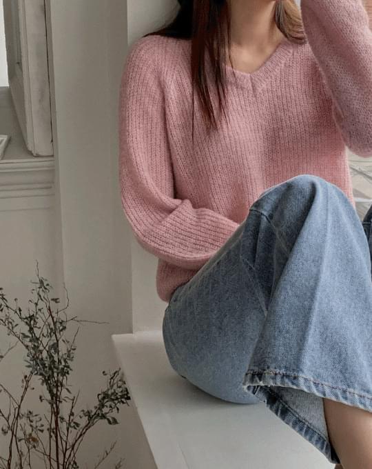 Oz V-Neck Wool Knitwear - 6 color