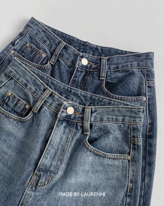 Amazing Slim Straight Denim Pants - 2 color