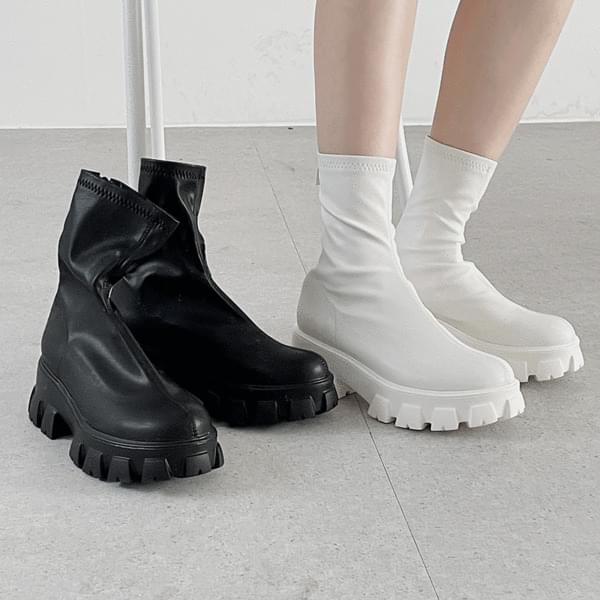 full-heel zipped Socks boots