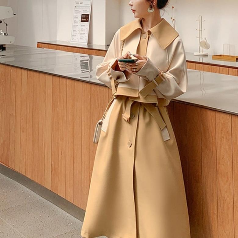roydel collar line trench coat