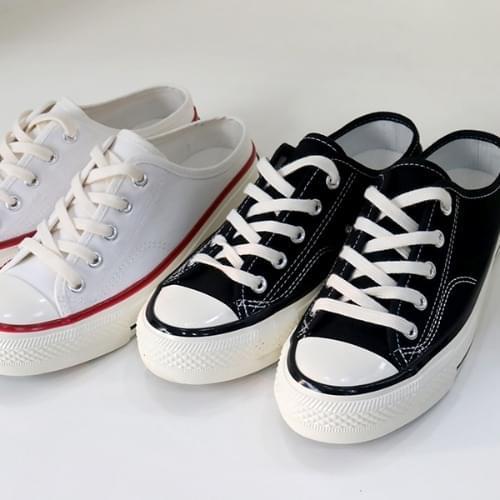 Canvas Mules Sneakers Sneakers Slippers Blowers Sneakers 2cm