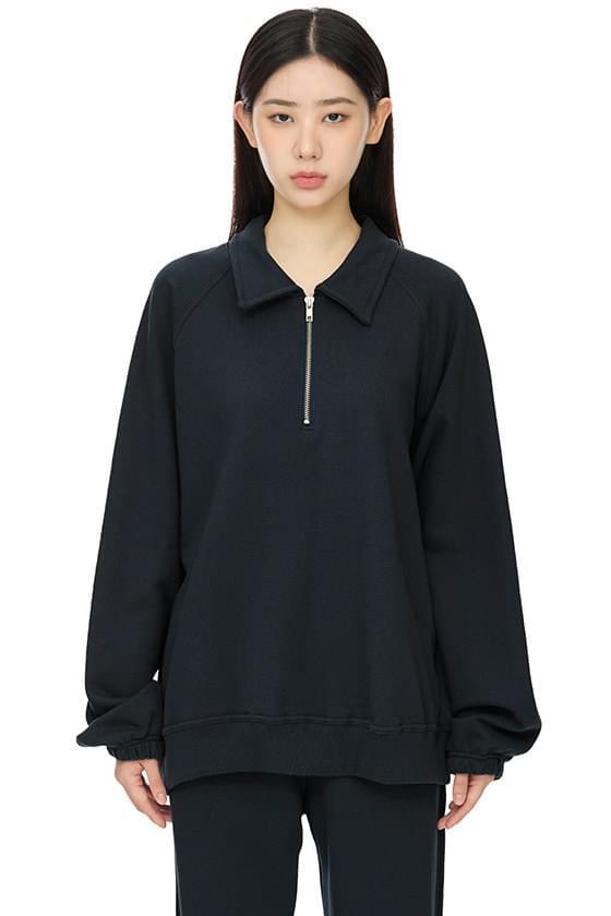 레이지 하프 집업 스웨트 셔츠