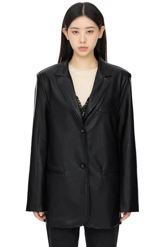데이 에코 레더 싱글 재킷